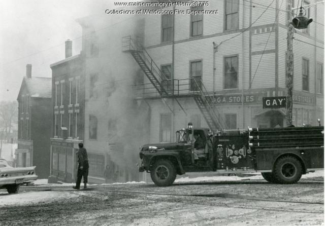 Gay Block fire of 1962, Waldoboro