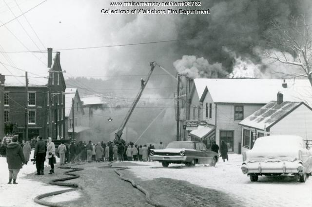 Gay Block Fire, Waldoboro, 1962