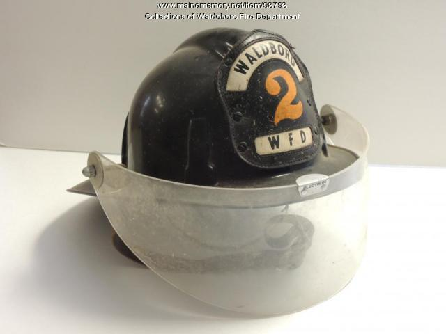 Fire Department Helmet, Waldoboro, ca. 1950