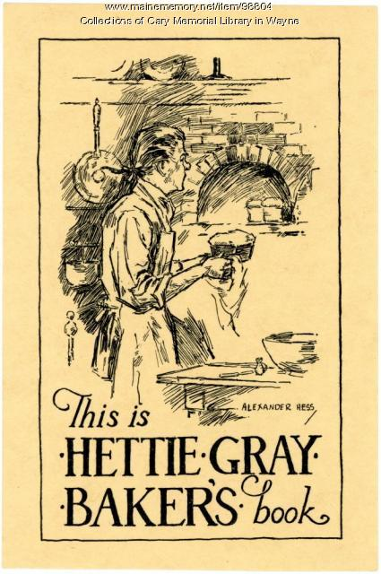 Hettie Gray Baker bookplate, ca. 1925