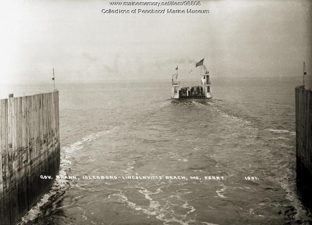 """""""Governor Brann,"""" Islesboro-Lincolnville Beach, ca. 1936"""