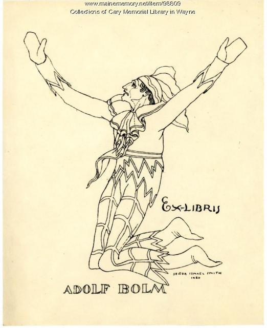 Adolf Bolm bookplate, 1920