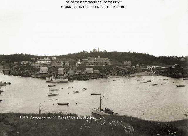 Monhegan from Manana Island, ca. 1915