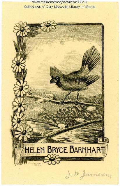 Helen Bryce Barnhart bookplate, 1933