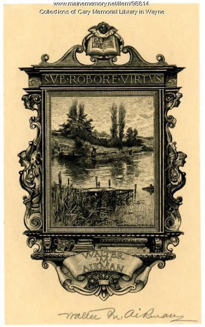 Walter M. Aikman bookplate, 1914