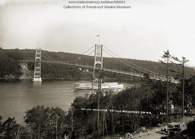 Waldo-Hancock Bridge, Verona Island, 1931