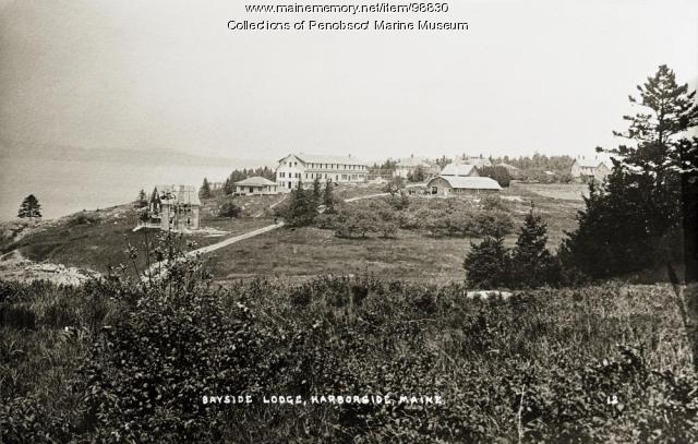Bayside Lodge, Harborside, Brooksville, ca. 1920