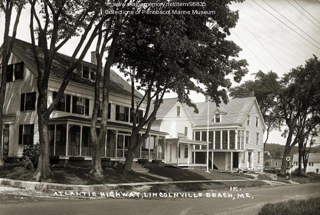 Atlantic Highway, Lincolnville Beach, ca. 1920