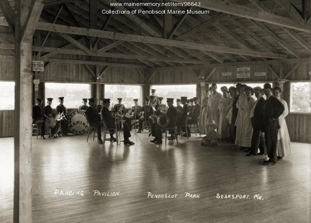 Dancing Pavilion, Penobscot Park, Searsport, ca. 1910