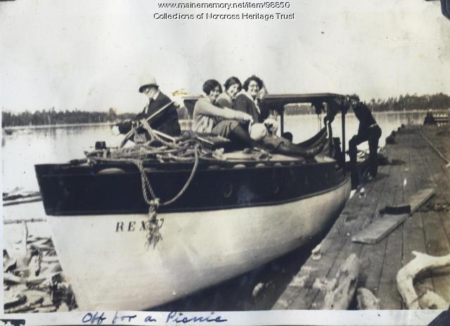 """Rex,"" Norcross wharf, ca. 1930"