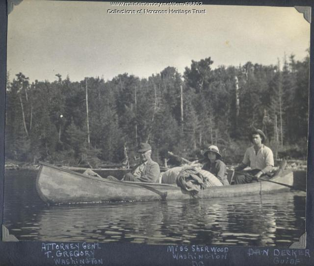 Canoeing, West Branch region, ca. 1915