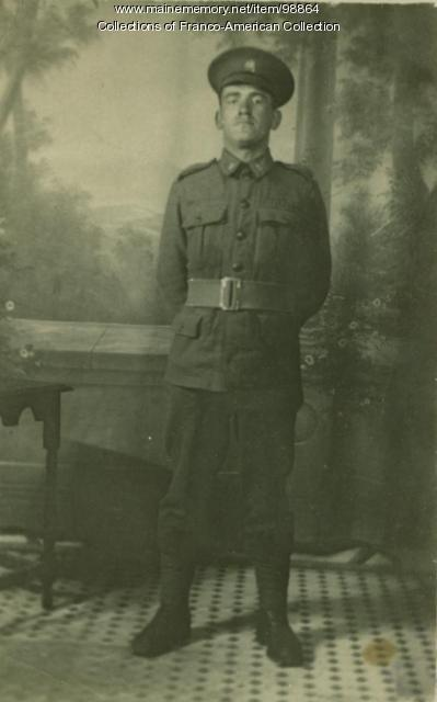 Zépherin Lessard, Royal Canadian Army, Fernie, BC, ca. 1917