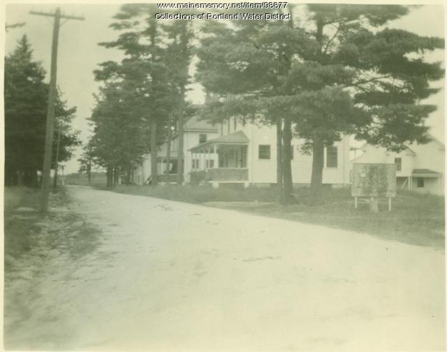 Smith's Mills village street, east side, Standish, 1923