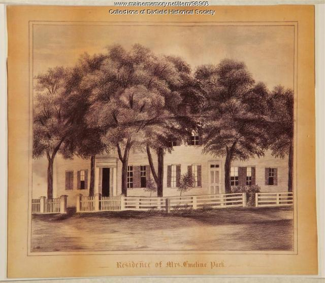 Emeline Park Residence, Main Street, Dixfield, ca. 1840