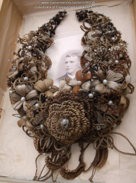 Hair wreath, Presque Isle, ca. 1860