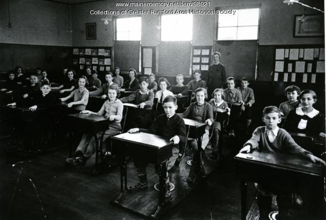 1936-1937 Grade 5 Pettengill School, Rumford, ca. 1936