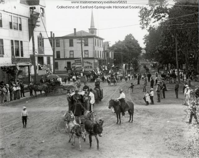 Circus Parade on Main Street, Sanford, ca. 1900