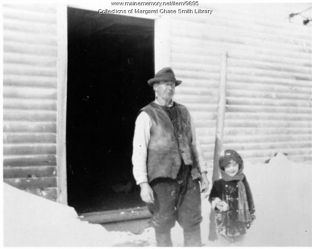 Margaret and Grandpa, Skowhegan, ca. 1902