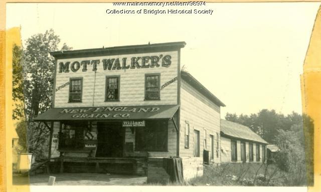 6 Portland Street, Mott Walker's New England Grain Company, Bridgton, ca.1938