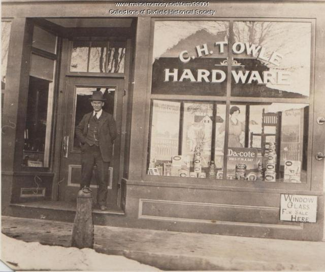 Charles H. Towle, Weld Street, Dixfield, ca. 1920