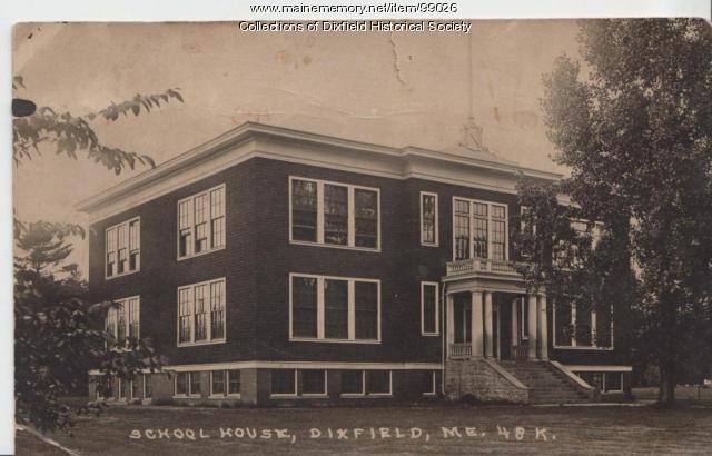 Dixfield High School and Grammar School, High Street, Dixfield, ca. 1920