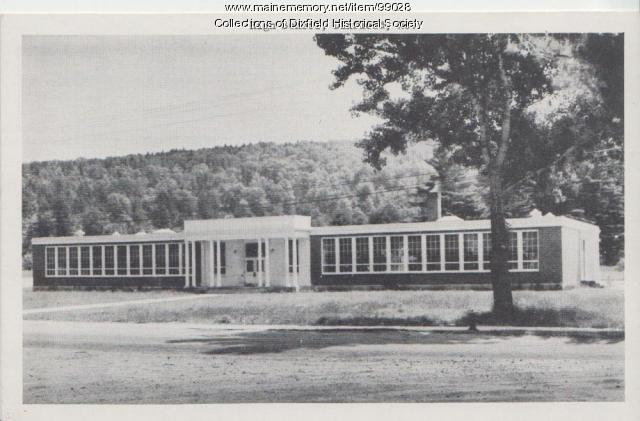 Dixfield High School, Weld Street, Dixfield, 1947