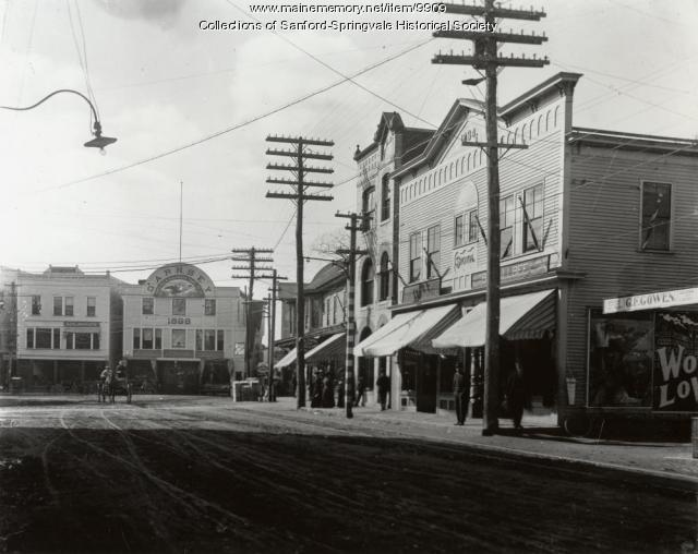 Sanford Square from Washington Street, 1896