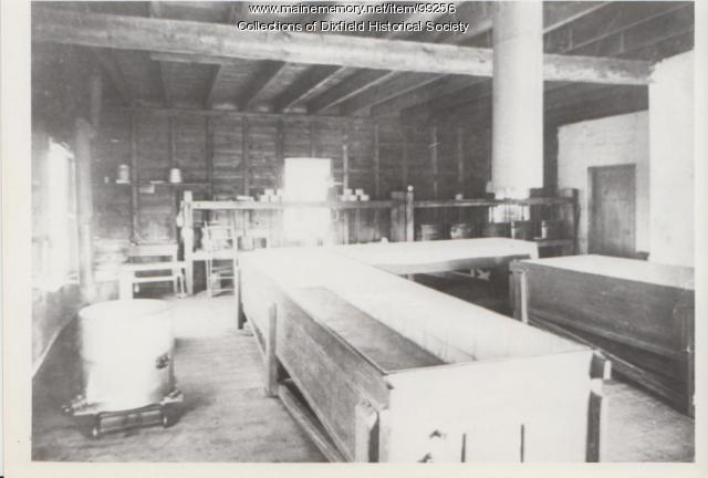 Dixfield Centre Cheese Factory interior, Dixfield, ca. 1880