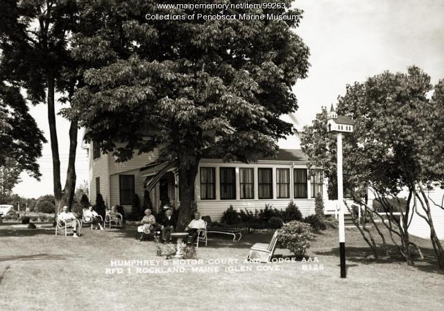 Humphrey's Motor Court and Lodge, Rockland, ca. 1935