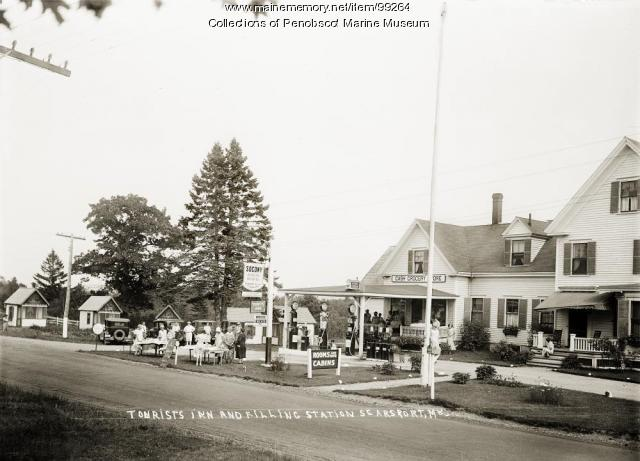 Tourists Inn, filling station, Searsport, ca. 1930
