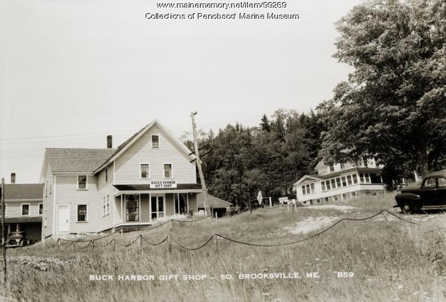 Buck Harbor Gift Shop, South Brooksville, ca. 1940