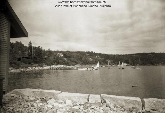Panorama of Buck's Harbor, South Brooksville, ca. 1955
