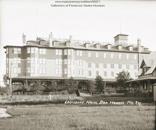 Louisburg Hotel, Bar Harbor, ca. 1910
