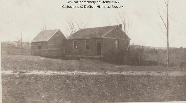 Dixfield Common Schoolhouse, Dixfield Centre, ca. 1900