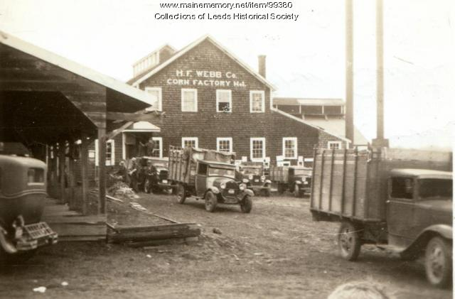 H.F. Webb Co. corn factory, Leeds, ca. 1920