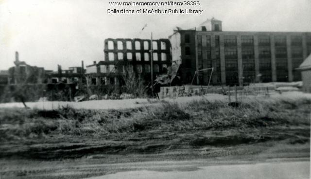Ruins of Grafton Lumber Co., Biddeford, 1963