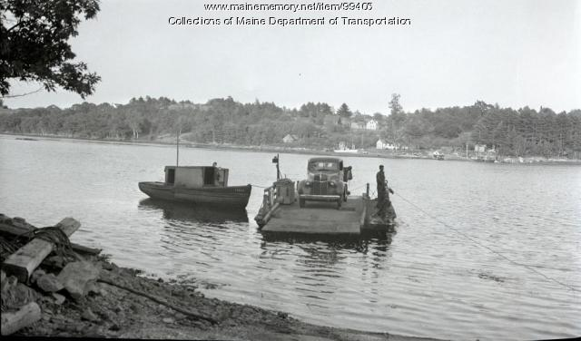 Westport Ferry Arriving at Wiscasset, 1941