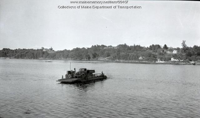 Ferry on the Back River, Westport Island, 1941
