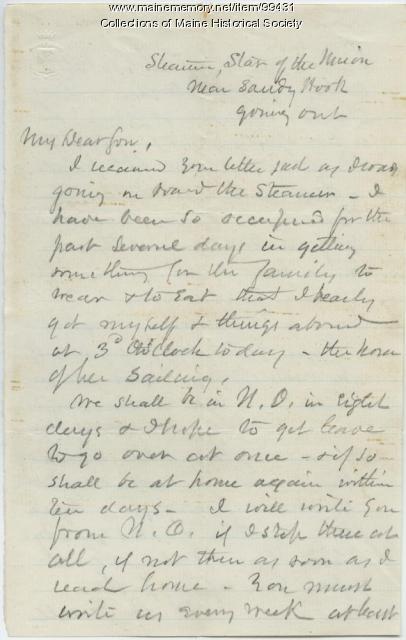K.B. Sewall on return to Mobile, 1865