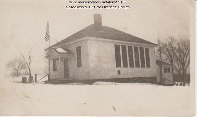 Schoolhouse at Dixfield Common, ca. 1920