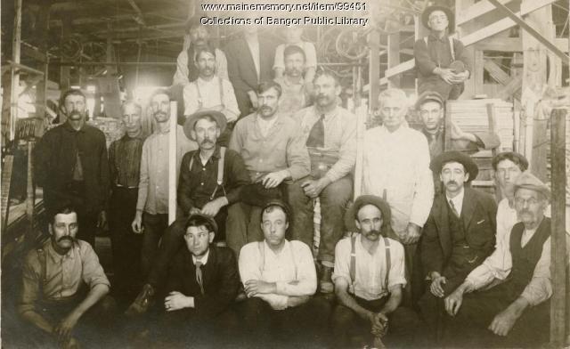 Bangor lumber mill workers, ca. 1905