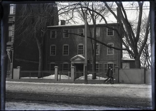 Wadsworth-Longfellow House, Congress Street, Portland, ca. 1900