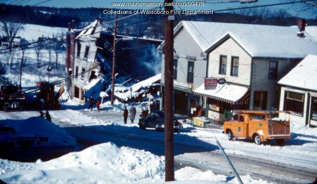 Aftermath of the Gay Block fire of 1962, Waldoboro