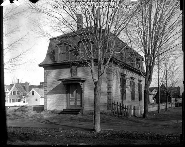 Sanford Public Library, School Street, Circa 1905