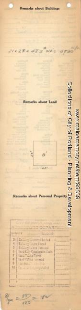 Assessor's Record, 1929-2013 Forest Avenue, Portland, 1924