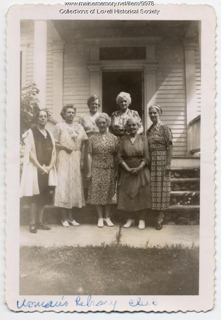 Women's Library Club, Lovell, 1950