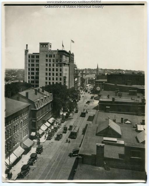 Chapman Building, Congress Street, Portland, ca. 1924