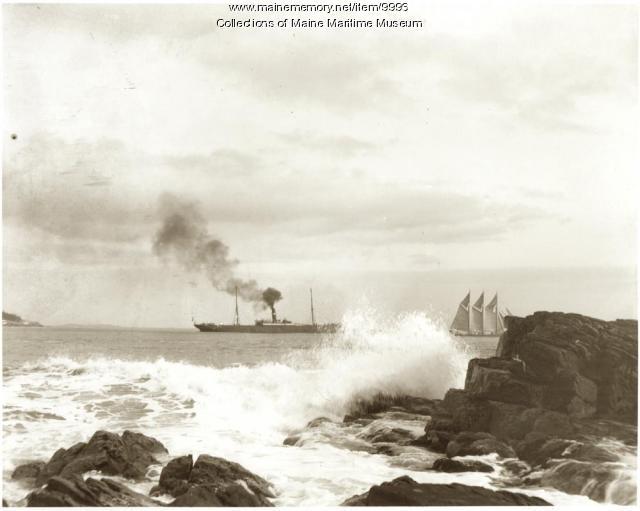 Steam and sail, Portland, ca. 1900